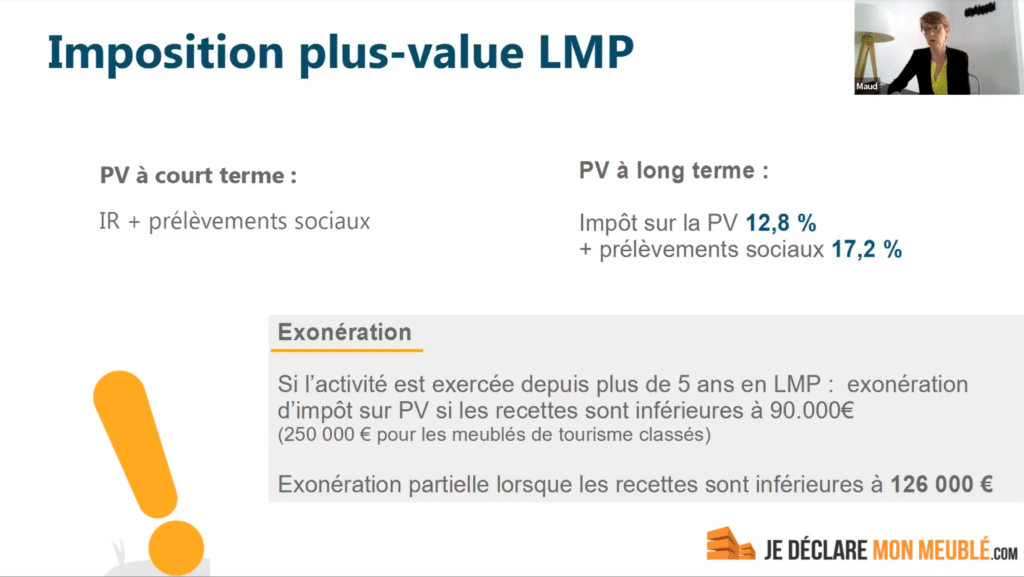imposition plus value LMP